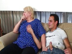 Granny fuck on the couch with cancer