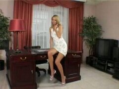 Stunning Patricia toys both holes right in the office