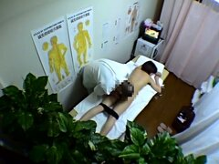 Hidden cam massage for pretty Asian...