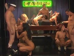 Insane Group Sex Orgy In The 1920s With Several Hot Croupiers