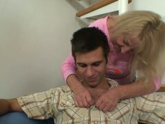 Horny woman seduces her son in law into fucking her