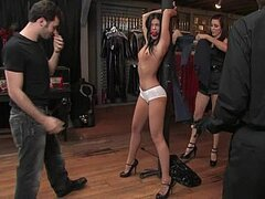 Long legged India Summer gets punished