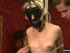 Spanking and Toying a Bounded Blonde Babe in BDSM Vid