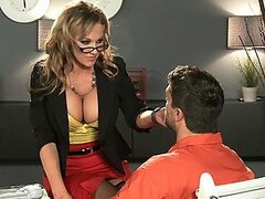 Horny Prisoner Fucking Her Insanely Hot Attorney