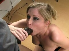 Wife banged by black cock