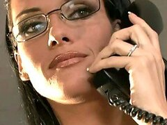 Boss lady Jennifer Dark fucks with her employee in her office