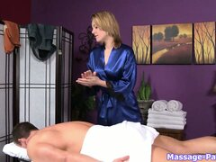 It's time to see what this masseuse hides under her silk robe