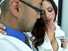 Hot and Busty Scientist Ariella Ferrara Fucks The Security Guy in the Lab