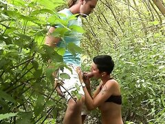 BEAUTIFUL BJ IN THE BUSHES