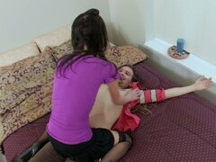 Hot brunette teen fucked doggystyle