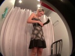College babe caught changing on hidden cam