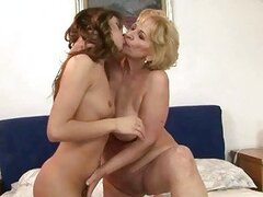 Granny and hot girl enjoying lesbian sex