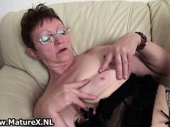 Horny old mom is spreading her legs part6