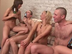 Randy Russian Chicks Eager and Horny for Group Sex