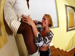 Sexy Blonde Fucked By Black Cock...
