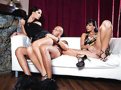 Care to see what naughty broads Lucy Belle and Simony Diamond are up for when they are left for their own devices with erect cock about?! I'm sure you'd love to become that lucky cock! They fuck and suck on it like sin until it can take no more and blow n