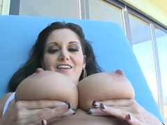 Ava Addams are showing us her incredible body, and then her boyfriend starts to play with her juicy boobies, definitely worth to see how this cutie will give him blowjob in the end