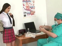 Horny doctor and college babe