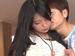 Divine brunette asian slut gets proper fingering of her hairy hole