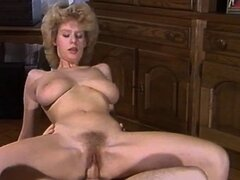 Retro porn video with Desiree Barclay sucking cock and riding it