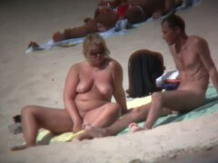 Compilation of beach nudists videos with big boobs and ass