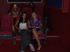 Two Stunning Lesbians Get It On In The Cinema