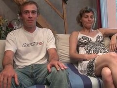 Amateur couple in a casting in france