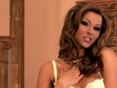 Cindy Hope  undressing her gorgeous glamour clothes