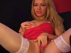 Tequilla masturbating in her white garter belt