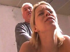 Hardcore Scene Between An Old Man And A Sexy Blonde Teen