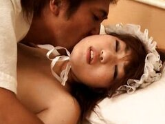 Asian maid likes getting in to blowjobs