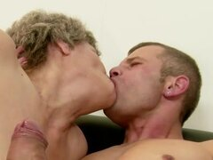 Granny Soothing the Pain witth a Blowjob and Some Hot Hardcore Sex