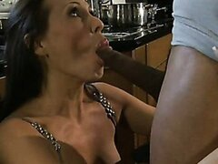 MILF Hottie Mandy Bright Takes a Black Cock In Her Kitchen/Mandy Bright