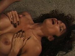 Curly woman pleasing man anally