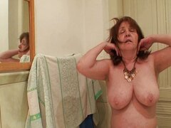 16 mother-in-law out of the shower fucks her