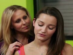 Teen girl has an audition with an older lesbian woman
