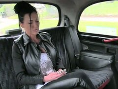 Amateur slut ass fucked by her taxi driver who scammed her into it