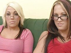 Hot interview with two young geek lesbians