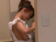 Big-tit Asian Marin Koyanagi masturbates this dick