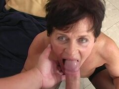 Dude Fucks Grandma Cums On Her Bush