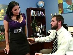 Big Breasted Latin Boss Sophia Lomeli On Stockings Fucking An Employee