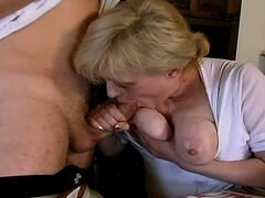 Crazy old mom gets fucked hard with a long cock deep