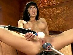 Amazing Fucking Machine Scene With A Hot Brunette