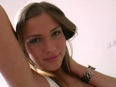 Beautiful French teen in action