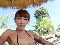 Ugly mature hooker Alia Janine exposes her big saggy jugs