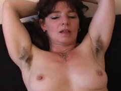 Sexy hairy amateur mature milf babe