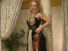 Sylvia Saint hot babe wearing a long dress