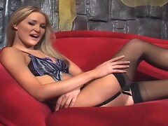 Sex in thigh high stockings and high heels