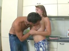 Kira is a sexy topless and naked young woman and her body is pleasured by her man.
