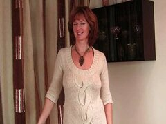 Mature redhead with hot body